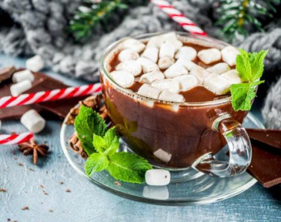 Шоколадно-мятное молоко