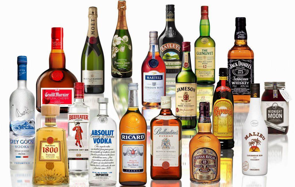 Виды алкогольных напитков
