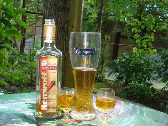 Сочетание пива и водки