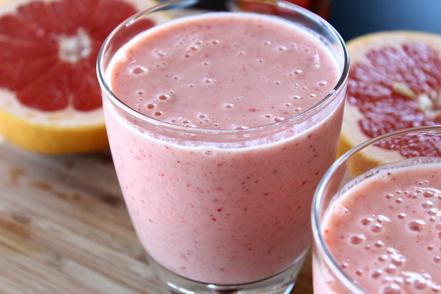 Молочный коктейль с грейпфрутом