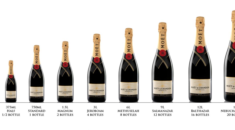 Размер бутылки шампанского, этикетки и наклейки