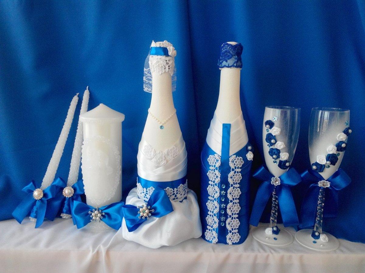 Украшение шампанского на свадьбу