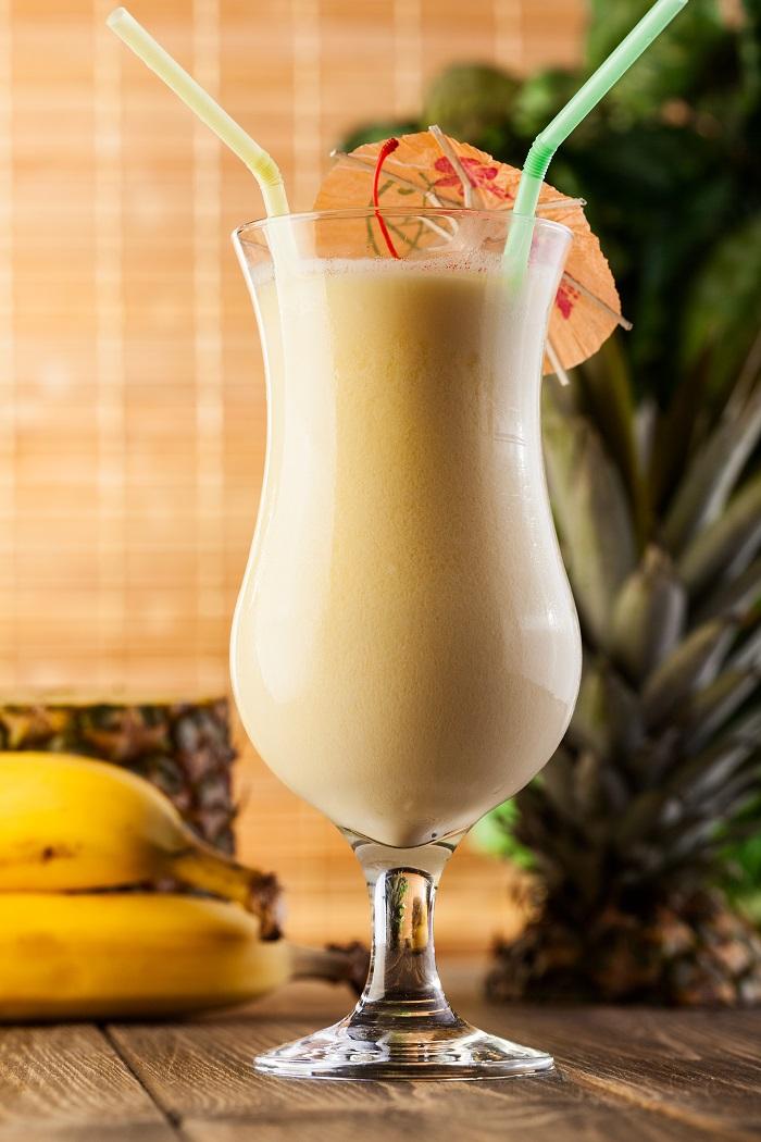 Шоколадно-банановый миндальный смузи