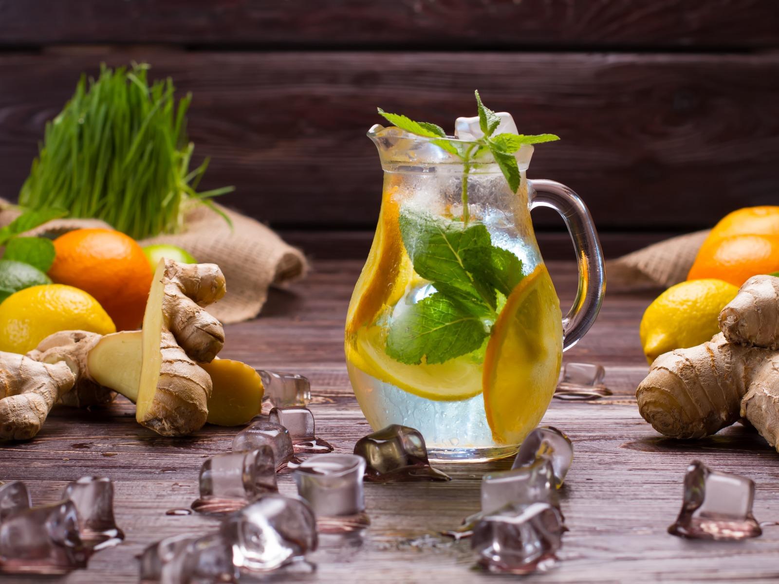 Домашний имбирный лимонад (Ginger lemonade)